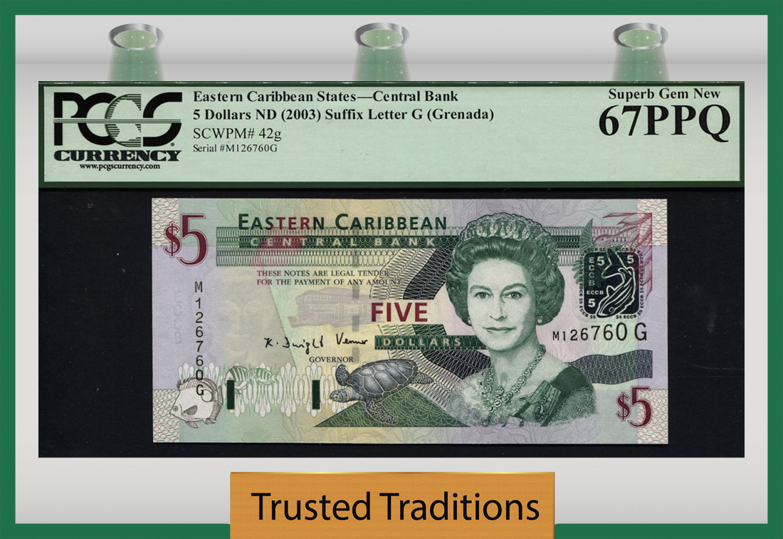 40 A 2000 Unc P East Caribbean States 50 Dollars