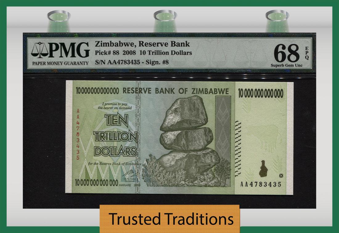 ZIMBABWE 10 Dollars 2007 P-67 UNC Uncirculated