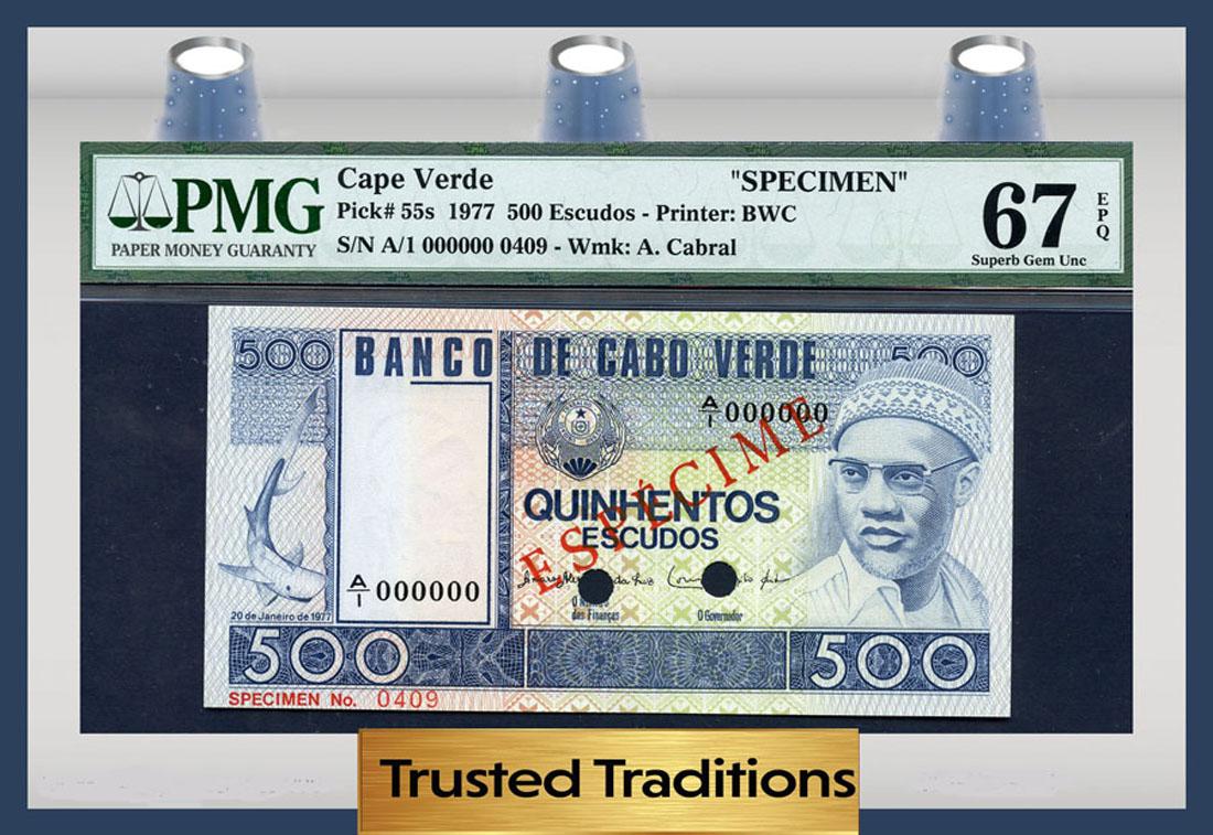 Africa Pick 67 2000 UNC Cape Verde 5000 Escudos